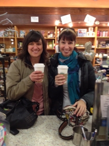 Channa. Me. Salted caramel mocha lattes from Chapters, best coffeeshop bookstore on the planet.