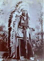 """Chief Crazy Horse (to whom our family is rumored to be distantly related) showcasing his """"fashion forward"""" style sense."""