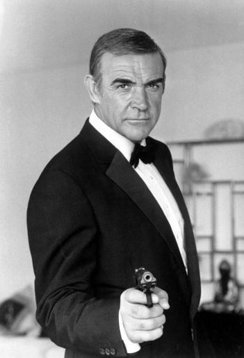 "Here, Sean Connery is ""Bond."" Notice the classic coloration and the calm and confident demeanor."