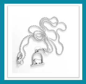 """This beautiful """"Out of Cage"""" bird pendant necklace will belong to one lucky winner! :-)"""