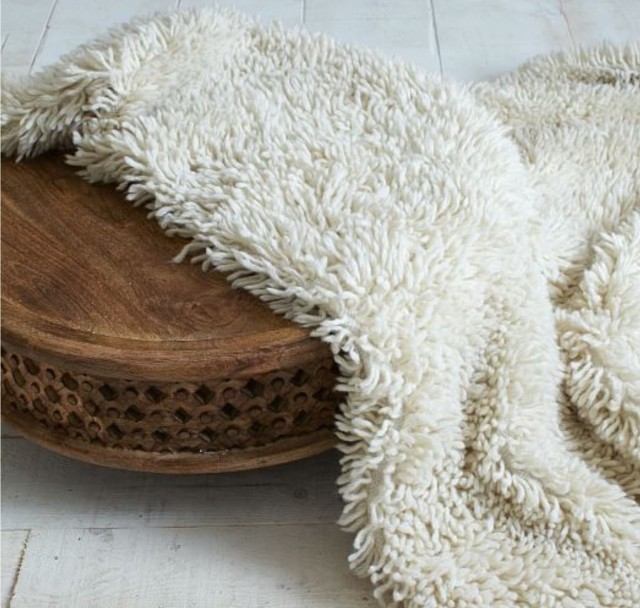 """A retro-trendy """"shag rug,"""" reimagined for a modern audience. (-Image courtesy of West Elm.)"""
