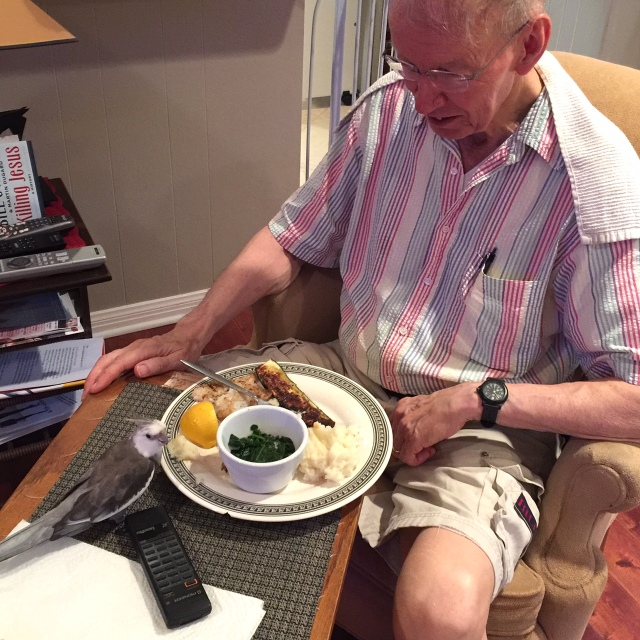 I know my Grandpa loves me so much - he always lets me have anything I want on his dinner plate (and never even wants to re-claim it after I'm done!)